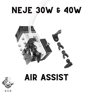 Air Assist For 30W & 40W Neje Laser Cutter & Engraver + 6 Feet of Air Hosing