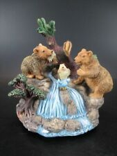 Spieluhr Bären mit Fisch Bär Bear Music Box,14 cm Poly Modell,Neuteil