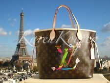 NEW LOUIS VUITTON LIMITED MONOGRAM LV HANDS MURAKAMI MOCA NEVERFULL MM BAG