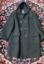 Current Gloverall Hooded Charcoal Duffle Toggle Coat Made In England Sz 46