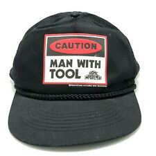 Vintage Home Improvement Man With Tools Hat Black Snap Back Osfm