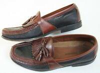 Johnston & Murphy Slip On Loafers Kiltie Tassel Brown Leather Mens Size 10.5 M