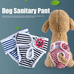 Washable Female Dog Puppy Pet Nappy Diapers Season Menstrual Sanitary Pants,