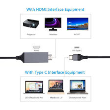 USB-C Type C to HDMI 4K Cable HDTV TV Digital AV Adapter for Android Samsung LG