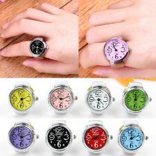 Creative Women Men Dial Quartz Analog Finger Watch Charm Cool Ring Elastic Watch