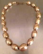 Early Un Signed Miriam Haskell Baroque Pearl Choker Necklace