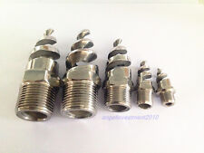 """2pcs New Stainless steel spiral Cone spray nozzle  1"""" bspt"""