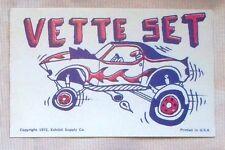 "VETTE SET Wild Cars Stanley ""Mouse"" Miller 1972 Exhibit Arcade Card"