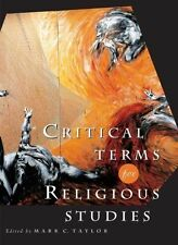Critical Terms for Religious Studies, Taylor, Mark, Used; Good Book