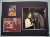 Alfred Hitchcock's Suspicion starring Cary Grant and signed by Joan Fontaine
