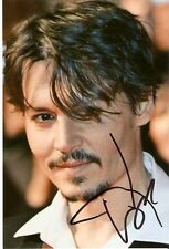 JOHNNY DEPP AUTOGRAPH 8x10 PICTURE CLOSE UP YOUNG ACTOR