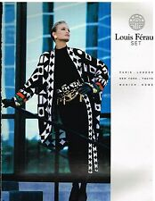 Publicité Advertising 1992 Haute Couture Femme manteau Louis Féraud