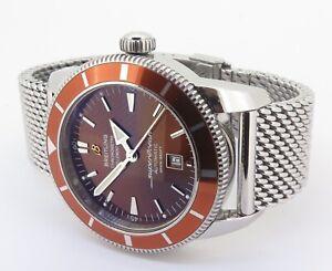 2010 Breitling Superocean Heritage 46 200m Steel Watch Box+Docs A17320