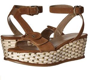 Stuart Weitzman Designer Makeitso Beige Sandals, Wedges, Size 7.5, Beautiful!