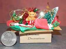 dollhouse miniature christmas decorations box a 112 in scale e30 dollys gallery - Dollhouse Christmas Decorations