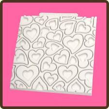 "4 ""Diseño Tapete Fondant Pastel Glaseado Molde: Corazones (wedding/valentine)"