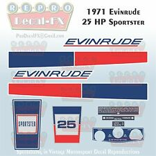 1971 Evinrude 25 HP Sportster Outboard Repro 10Piece Marine Vinyl Decal 25102-03