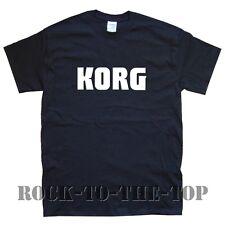 Korg NEU T-Shirt Größen S M L XL XXL schwarz weiß grau braun weinrot