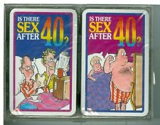 """Two Sealed Decks Non-Stand Playing Cards """"Is There SEX AFTER FORTY...?"""" by Tower"""