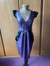 Ectomorph Women's Lilac Latex Rubber Vintage Knee length dress size 8