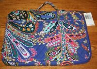 Vera Bradley LAPTOP ORGANIZER bag case tablet holder ROMANTIC PAISLEY blue NEW