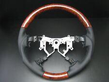 Toyota TUNDRA 2nd Gen 2007-2013 Burl wood genuine leather steering wheel-SPORTS