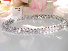 47106  7'' MARQUISE CT AAA SIMULATED DIAMOND TENNIS BRACELET CLASSIC 9CTS