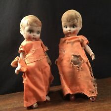 Vtg Doll Lot (2) Twin Sisters Daughters Twins Creepy Scary Japan PRIORITY MAIL
