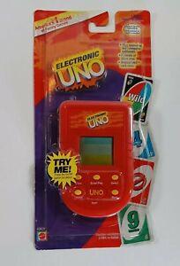 Electronic Uno Travel Game Portable Handheld Mattel 2002 Original Card Rules
