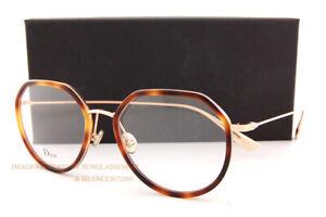 Brand New Christian Dior  Eyeglass Frames STELLAIREO9 2IK Havana/Gold For Women