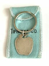 Tiffany & Co. Sterling Silver Apple Key Chain With Tiffany Pouch