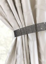 One Pair (2) Diamante Bling Crystal Tie Backs - Curtain Voiles Holdbacks