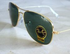 Authentic Rayban Cockpit Aviator Sunglasses Gold Green RB3362 w. case cloth NEW