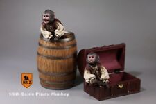Mr.Z 1/6 Scale Pirate Monkey Wine Barrel Treasure Box House Model Toy