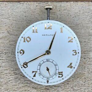 10s Hamilton Pocket Watch Movement - Grade 921 - 21 Jewels, Adjusted 5 Positions
