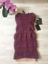 DSQUARED2 Dress Bodycon Wool Figure Hugging Dress Small UK4 IT36 NEW £1100