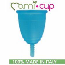 MAMICUP COPPETTA MESTRUALE TURCHESE 100% SILICONE MEDICO MADE IN ITALY TAGLIA L