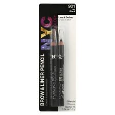 NYC New York Color Brow And Liner Pencils Twin Pack - Jet Black