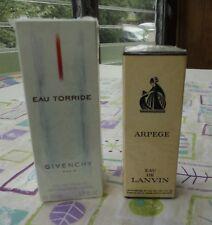 2 Sealed France Arpege Eau De Lanvin 2 Oz Perfume Givenchy Torride Toilette 1.7