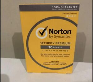 Norton Security Premium Multi Device 10 PC Mac Android iOS 1 Year, Sealed Box
