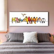 30×80×3cm Colorful Birds B Canvas Prints Giclee Wall Art Decor Framed Painting