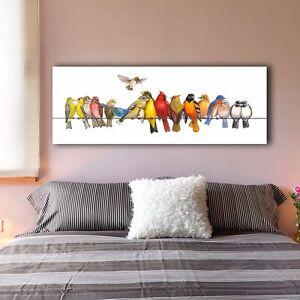 30??80??3cm Colorful Birds B Canvas Prints Giclee Wall Art Decor Framed Painting