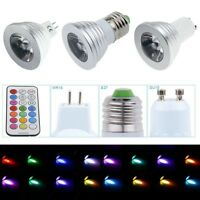 MR16 GU10 E27 4W RGB LED-Licht 16 Farbwechsellampe Wechsellampe 24 Fernbedienung