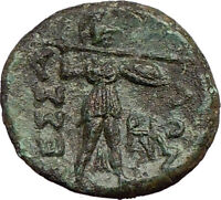 Larissa THESSALIAN LEAGUE 196BC Apollo Athena Magic  Ancient GREEK Coin i21884