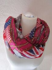 Loop-schal Pink-Orange-Blau-Rot England USA