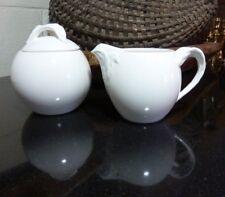 Villeroy and Boch Creamer & Sugar Bowl w/ Lid Foglia Vitro Porcelain Luxembourg