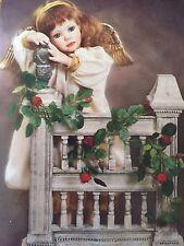 """Ashton Drake """"Hope"""" Porcelain Doll Angel Cherub Garden Gate Fence Flowers"""