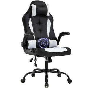 PC Gaming Chair Massage Office Chair Ergonomic Desk Chair Racing Executive