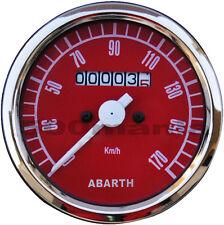 Strumento contachilometri rosso Ø 80 mm per Fiat 500 F/L/R e Fiat 126