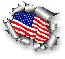 grande classico metallo LACERATO Rip American Stelle & strisce bandiera USA